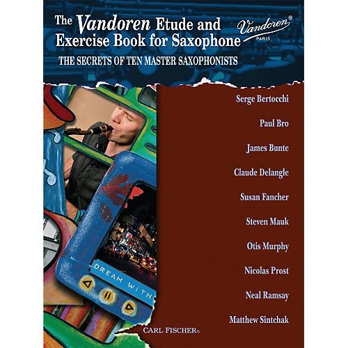 Carl Fischer Vandoren Etude & Exercise Book for Saxophone: The Secrets of Ten Master Saxophonists (Book) thumbnail