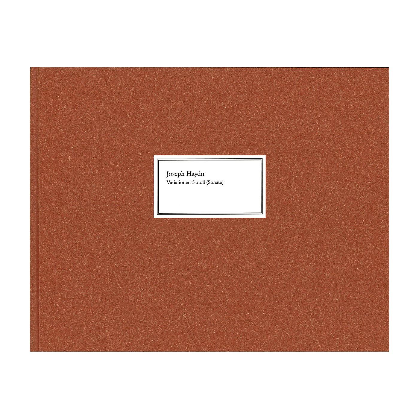 G. Henle Verlag Variations F Minor (Sonata) Hob. xvii: 6 Henle Complete Edition Series Hardcover by Franz Josef Haydn thumbnail