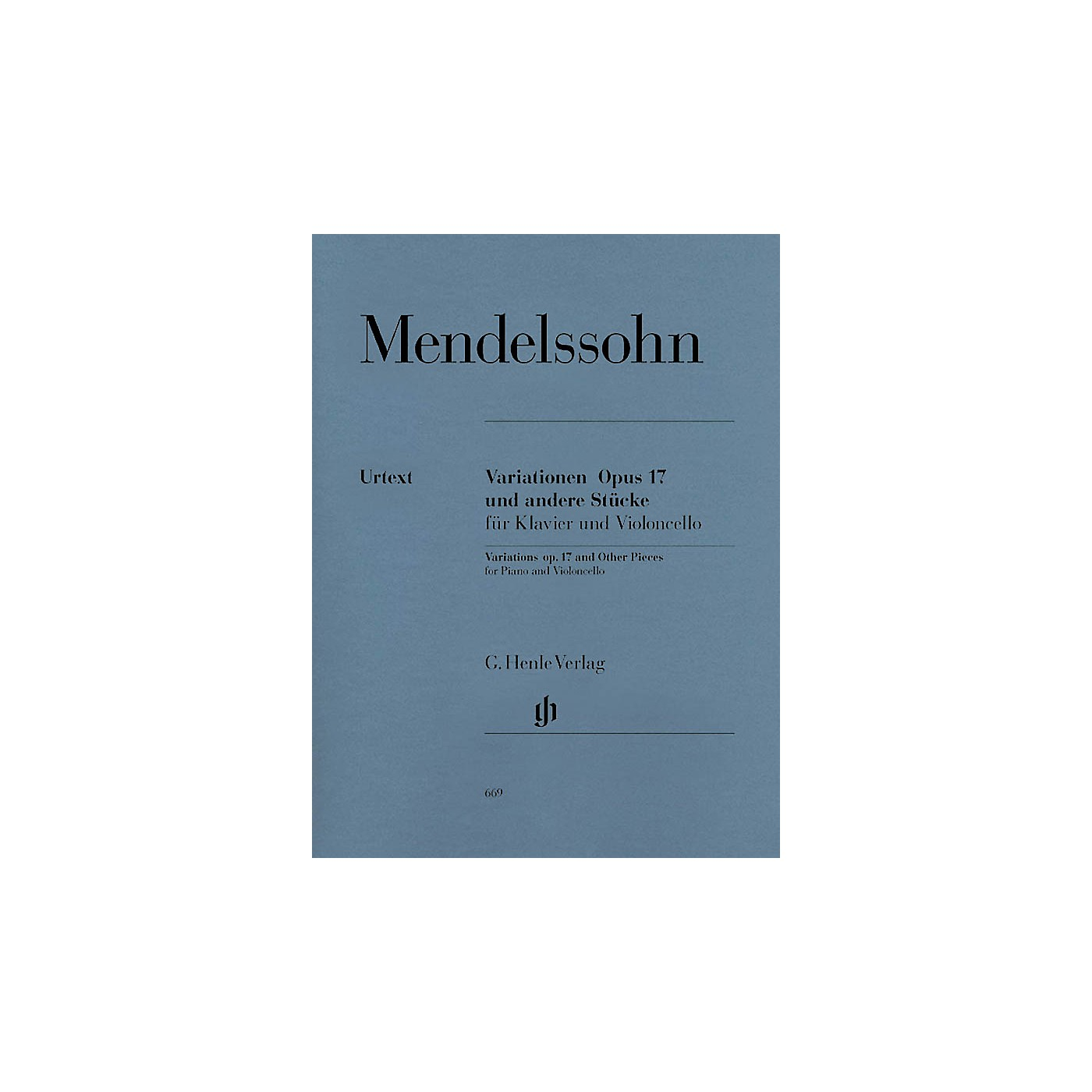G. Henle Verlag Variations Op. 17 and Other Pieces for Piano and Violoncello Henle Music Folios Series Softcover thumbnail