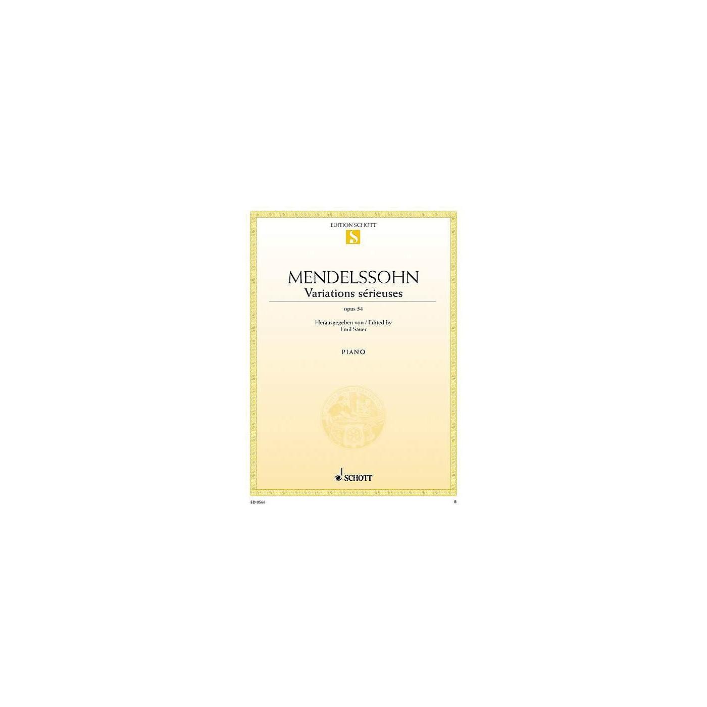 Schott Variations Sérieuses, Op. 54 Schott Series thumbnail