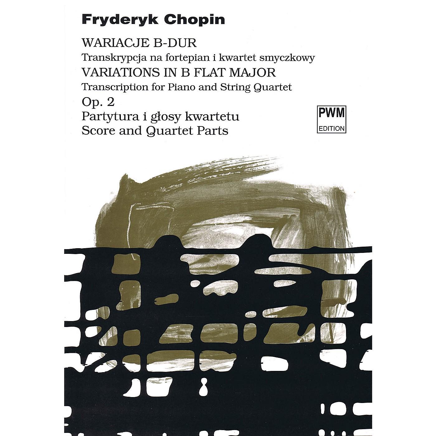 PWM Variations in B Flat Major Op. 2 PWM Series Composed by Frederic Chopin Arranged by Bartlomiej Kominek thumbnail