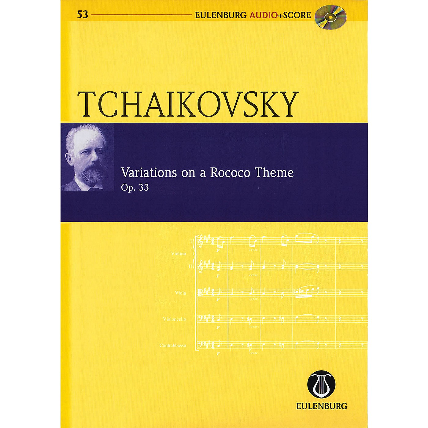 Eulenburg Variations on a Rococo Theme, Op. 33 Eulenberg Audio plus Score W/ CD by Tchaikovsky Edited by Kohlhase thumbnail