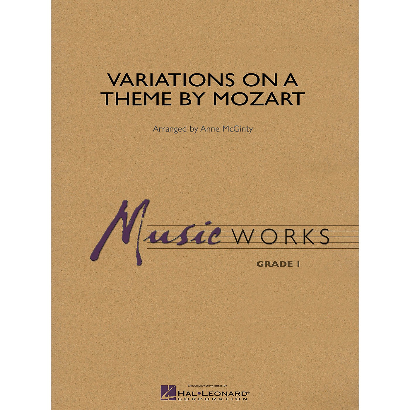 Hal Leonard Variations on a Theme by Mozart Concert Band Level 1 Arranged by Anne McGinty thumbnail