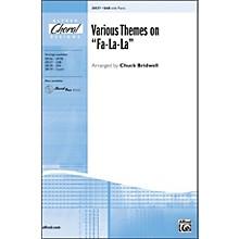 """Alfred Various Themes on """"Fa-La-La"""" SAB Choral Octavo"""