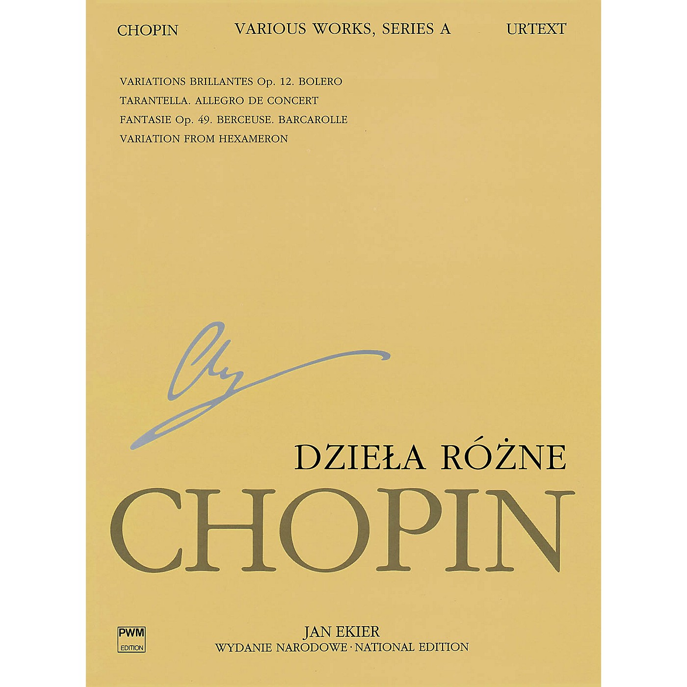 PWM Various Works for Piano, Series A (Chopin National Edition 12A, Volume XII) PWM Series Softcover thumbnail