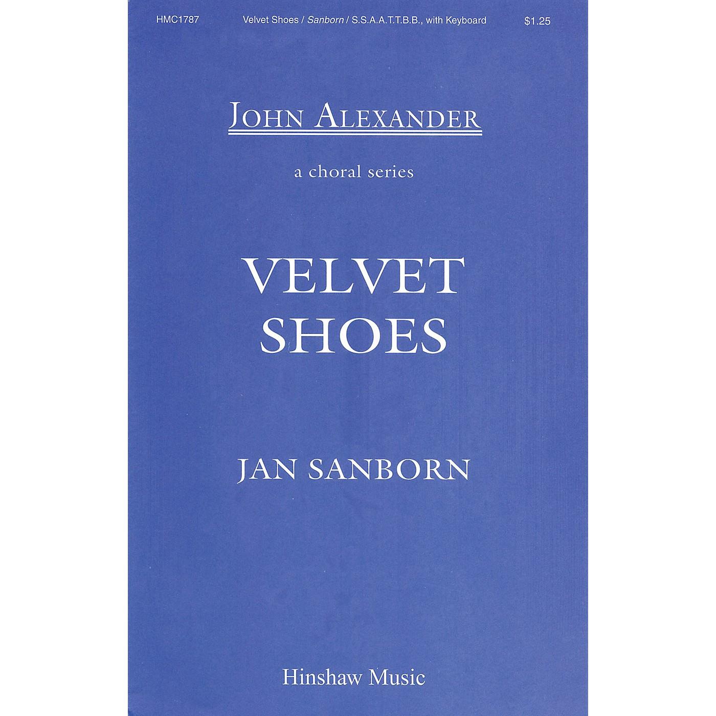Hinshaw Music Velvet Shoes SSAATTBB composed by Jan Sanborn thumbnail