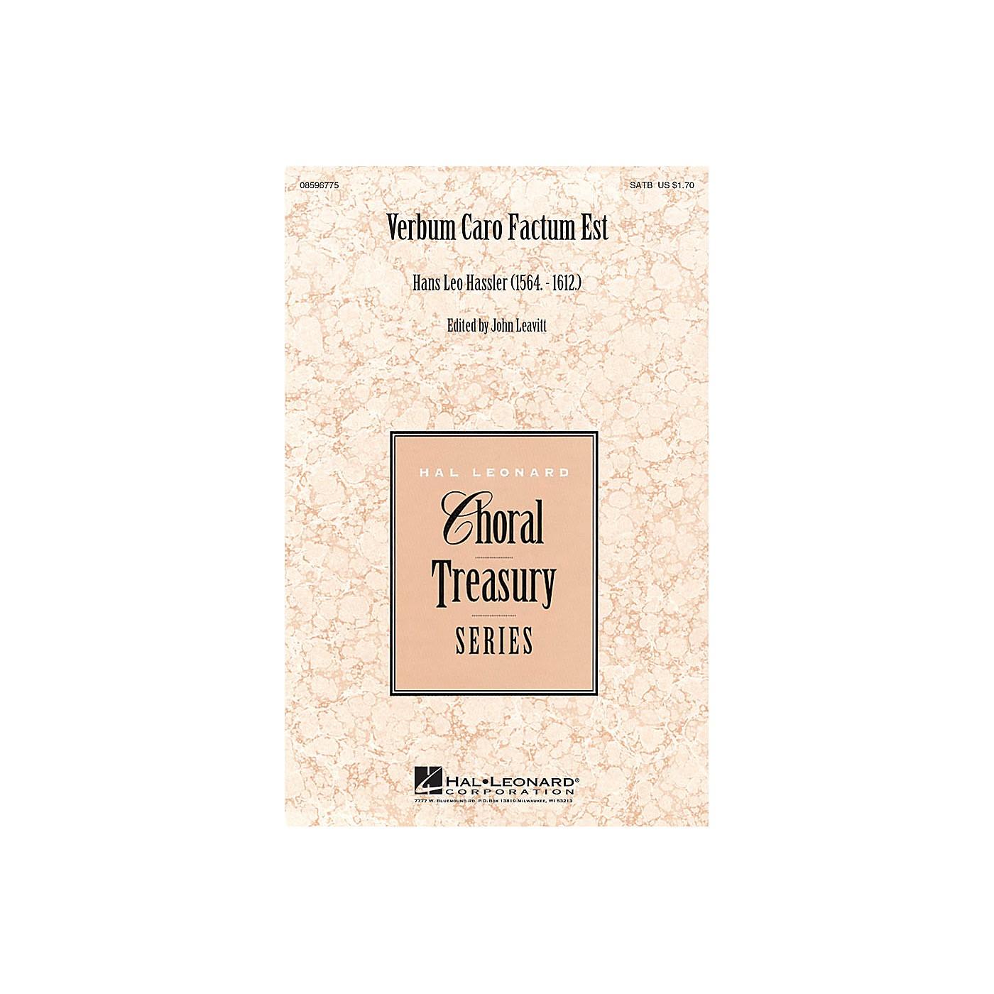 Hal Leonard Verbum Caro Factum Est SSATTB A Cappella composed by Hans Leo Hassler thumbnail