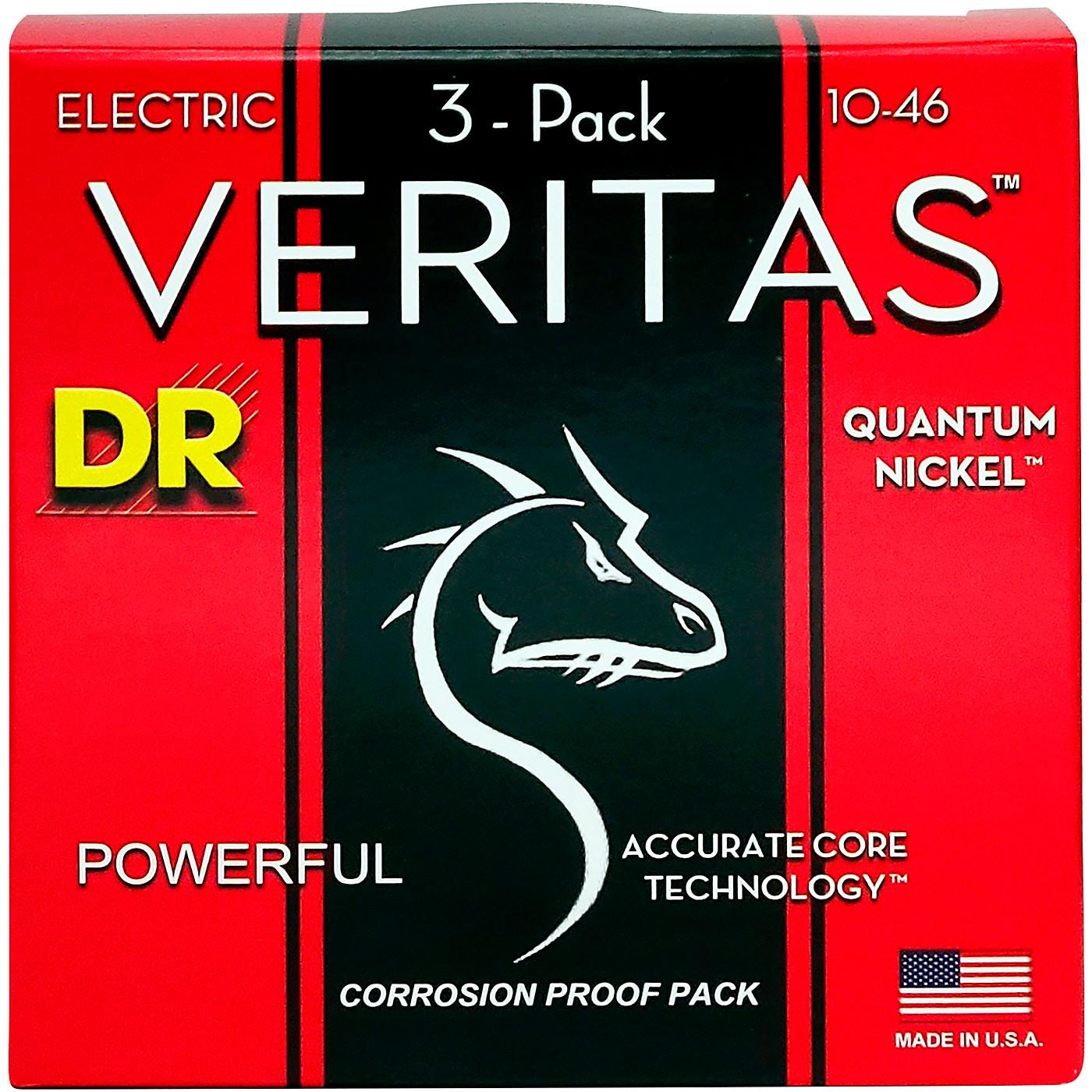 DR Strings Veritas - Accurate Core Technology Medium Electric Guitar Strings (10-46) 3-PACK thumbnail