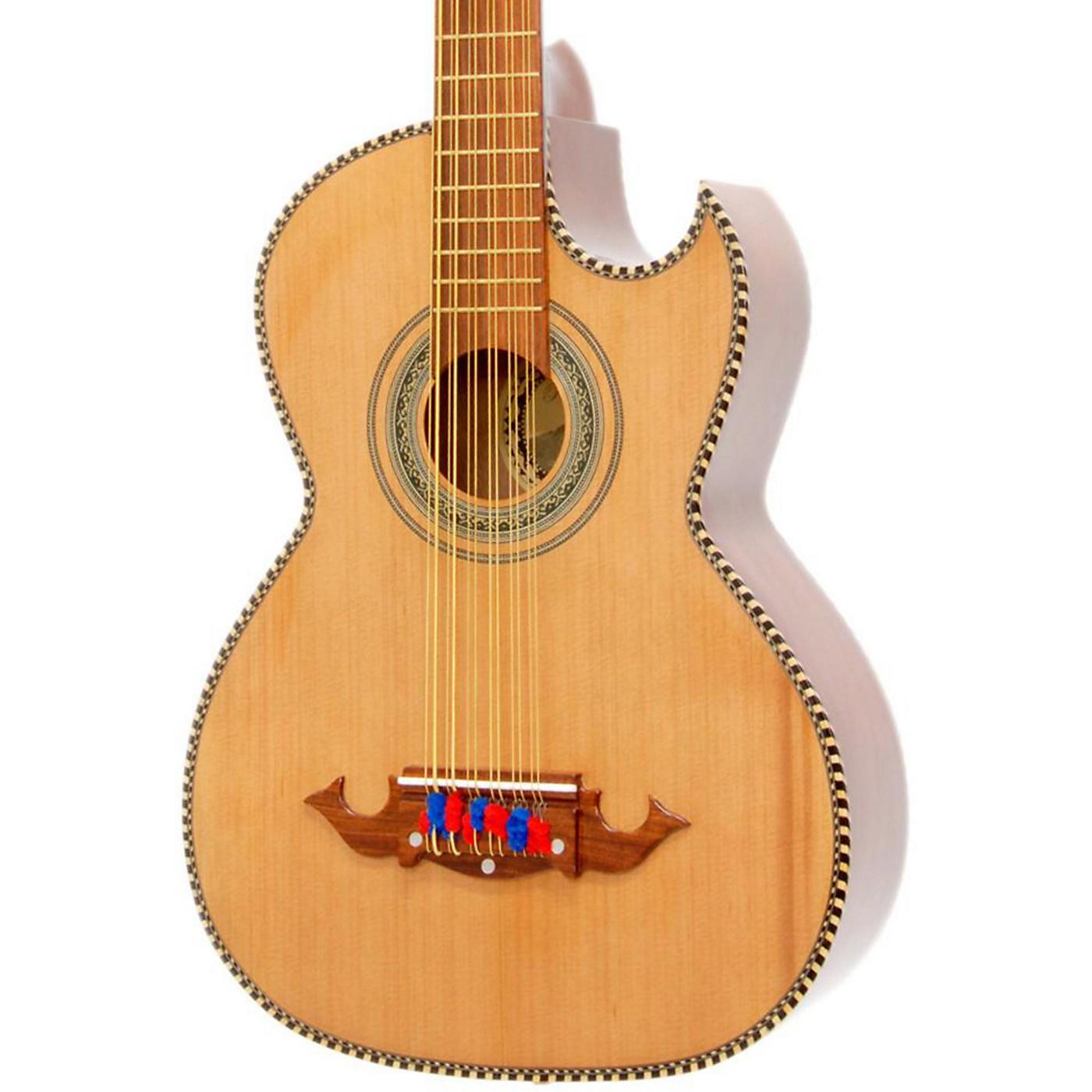 Paracho Elite Guitars Victoria-P 12 String Acoustic-Electric Bajo Sexto thumbnail