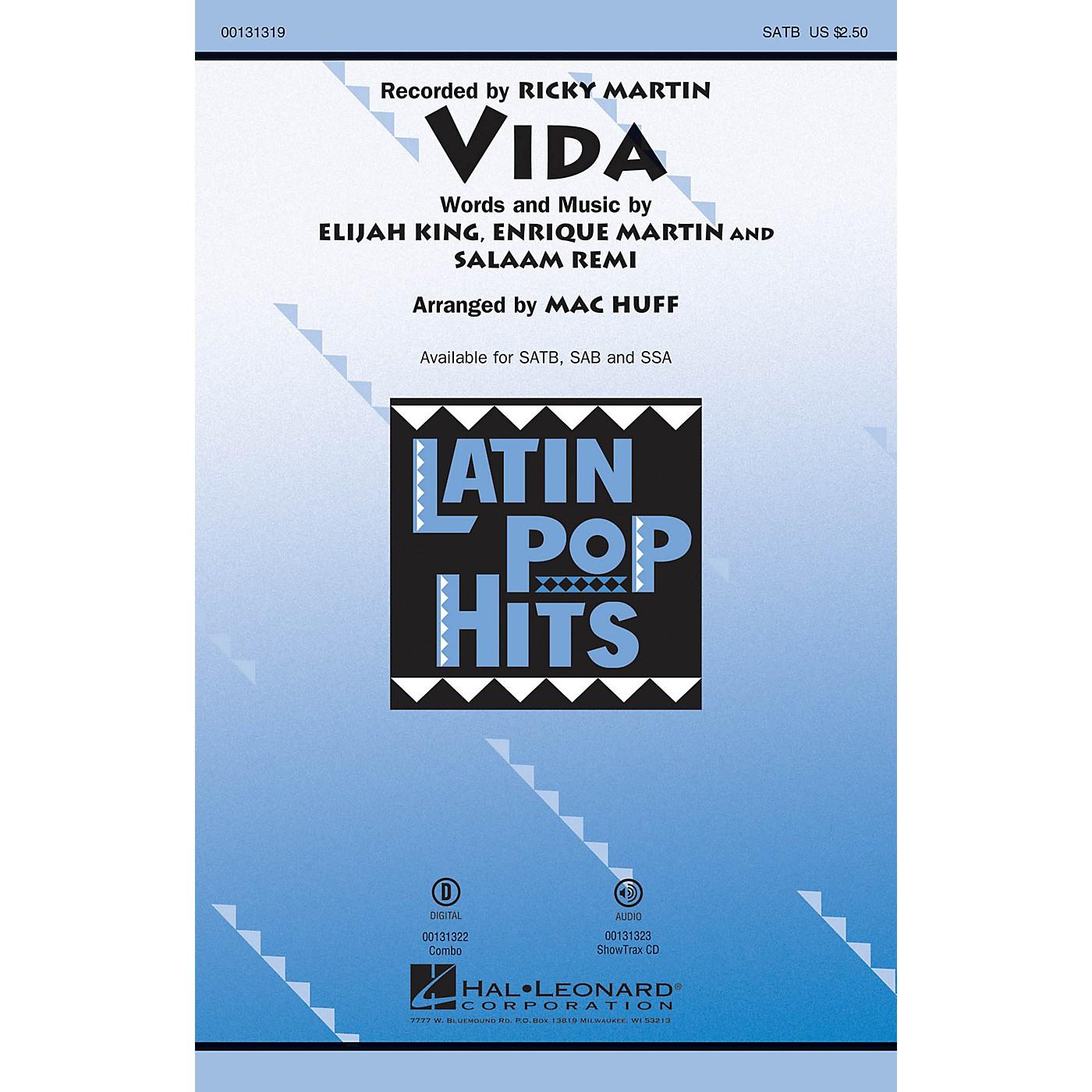 Hal Leonard Vida SSA by Ricky Martin Arranged by Mac Huff thumbnail