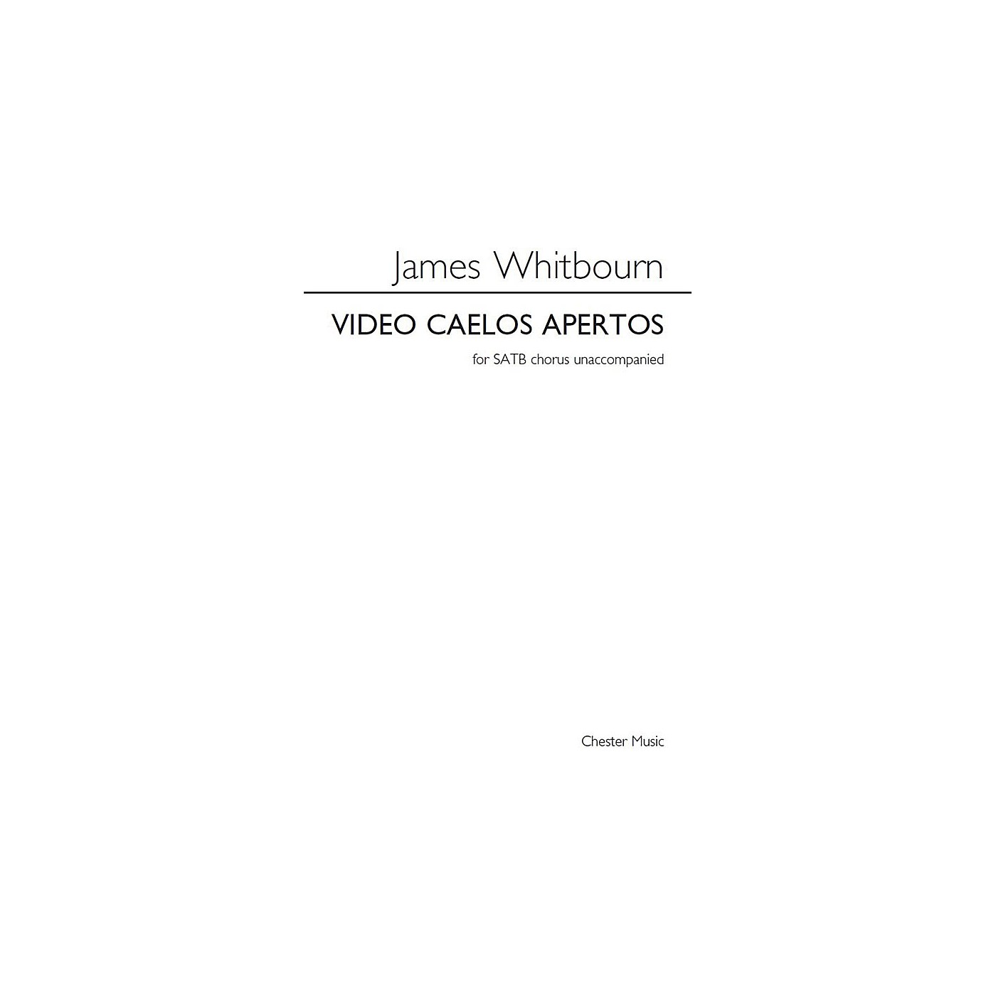 Chester Music Video Caelos Apertos SATB a cappella Composed by James Whitbourn thumbnail