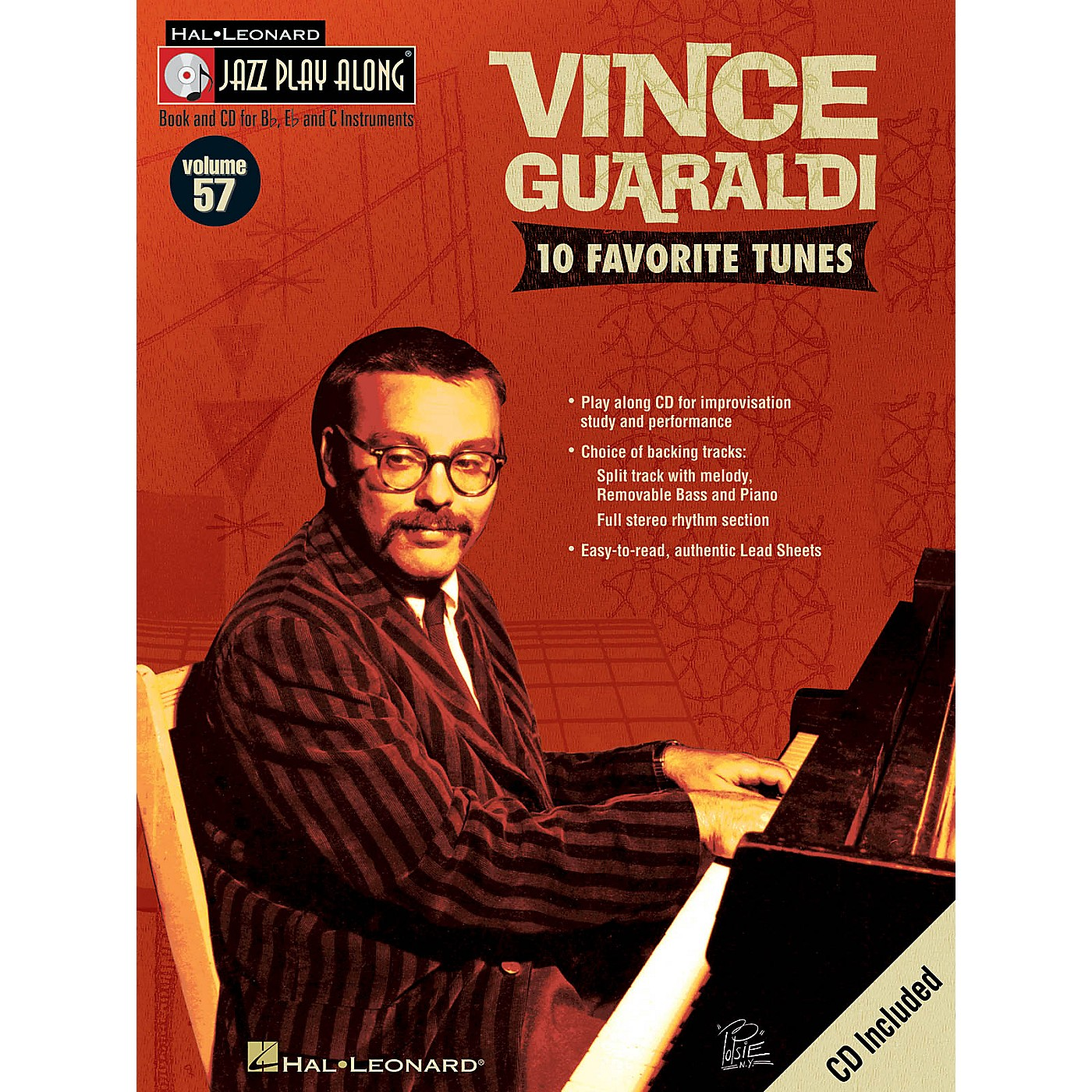 Hal Leonard Vince Guaraldi (Jazz Play-Along Volume 57) Jazz Play Along Series Softcover with CD by Vince Guaraldi thumbnail