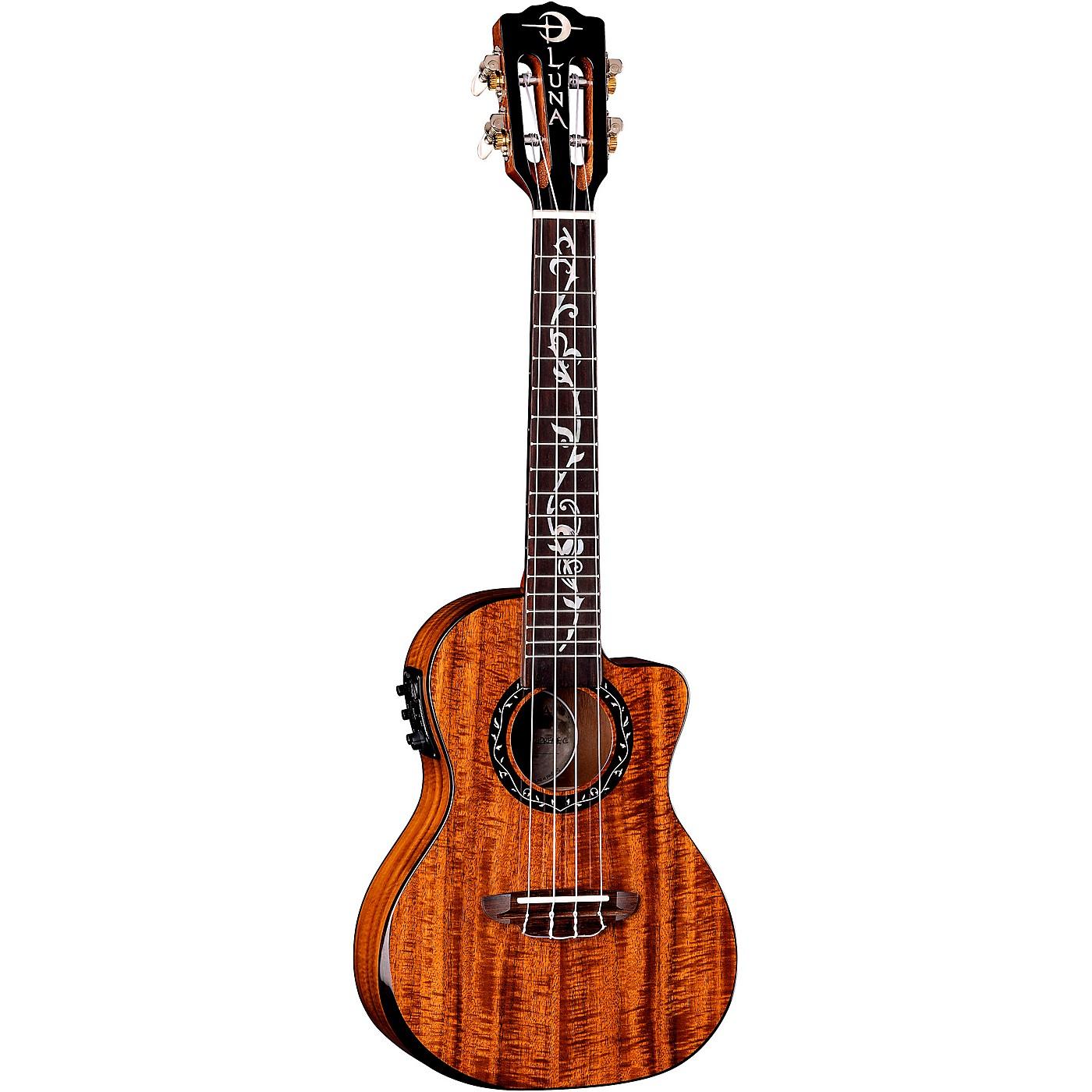Luna Guitars Vineyard Koa Concert Acoustic-Electric Ukulele thumbnail