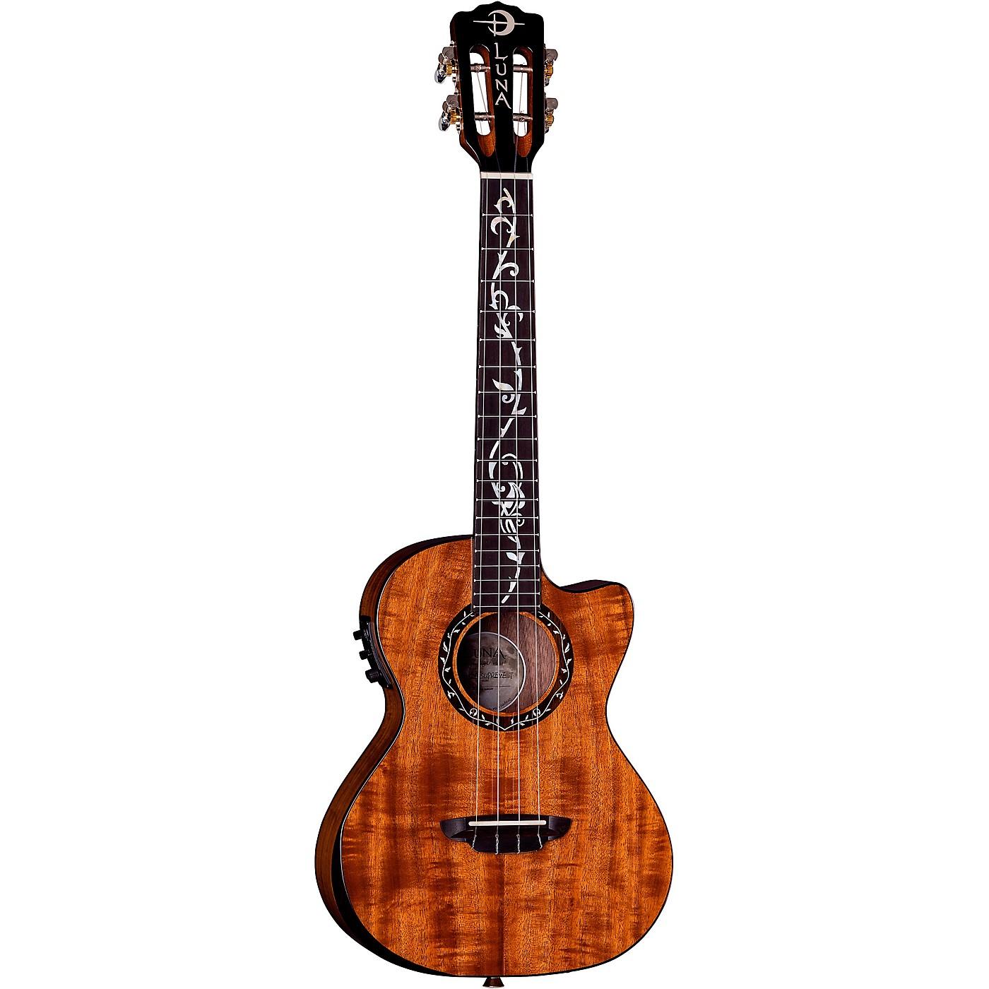 Luna Guitars Vineyard Koa Tenor Acoustic-Electric Ukulele thumbnail