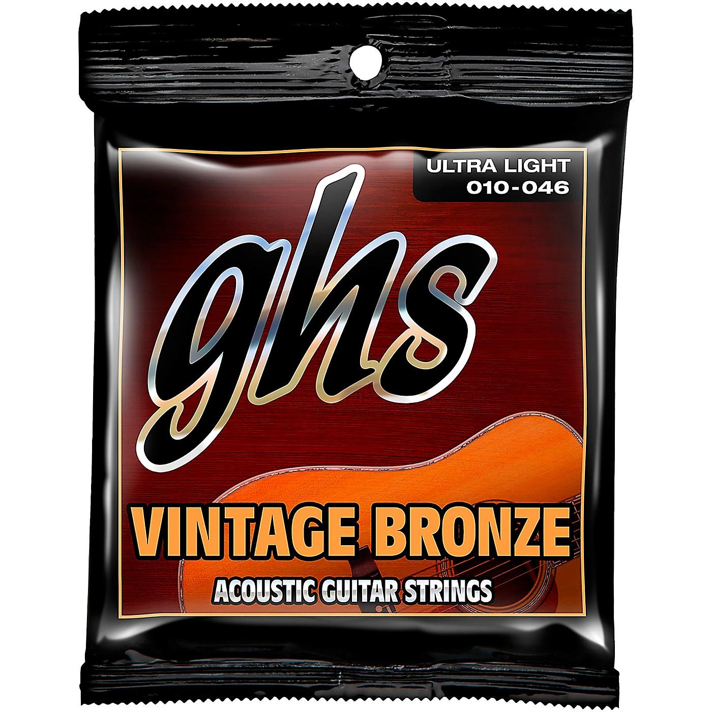 GHS Vintage Bronze 85/15 Acoustic Strings Ultra Light thumbnail