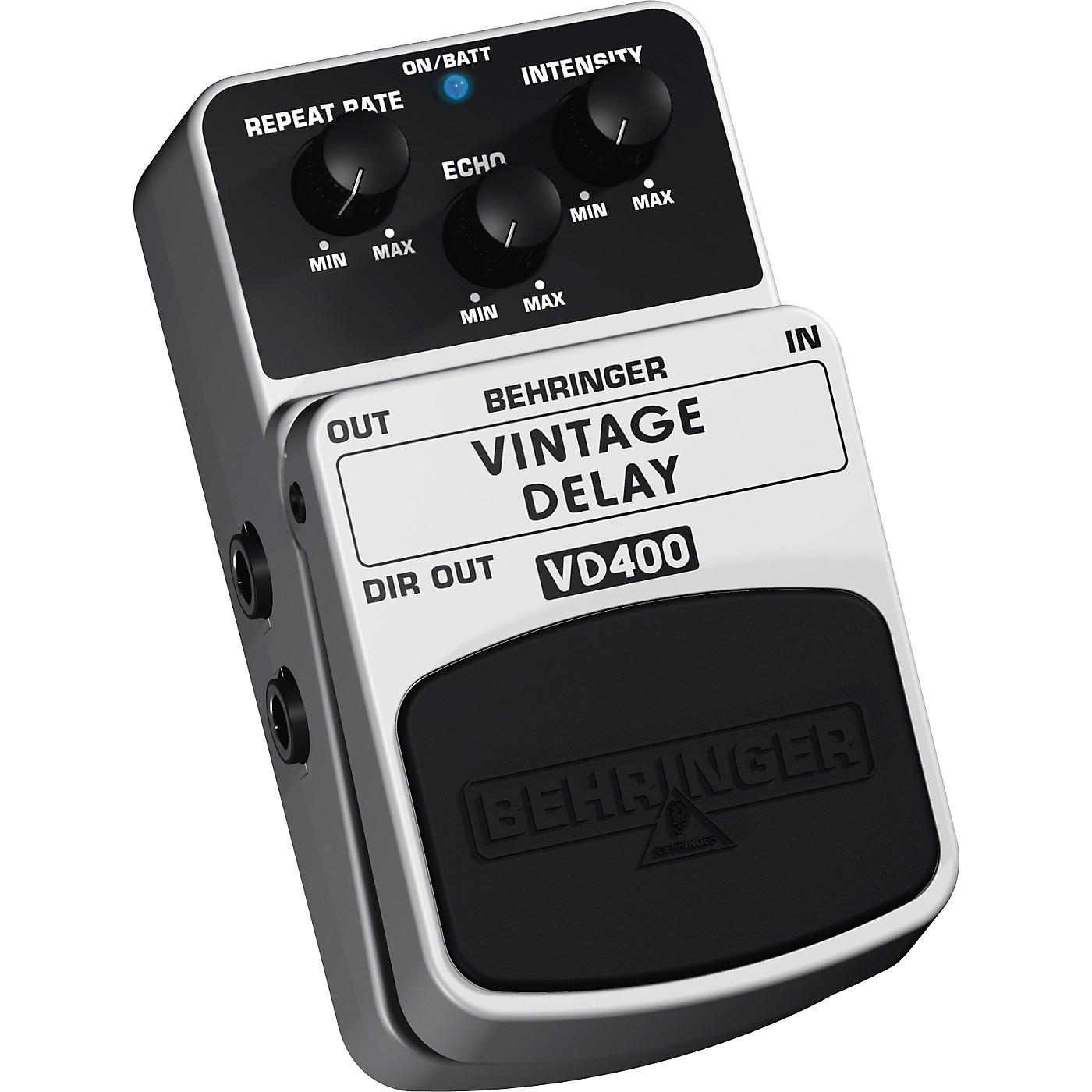 Behringer Vintage Delay VD400 Analog Delay Effects Pedal thumbnail