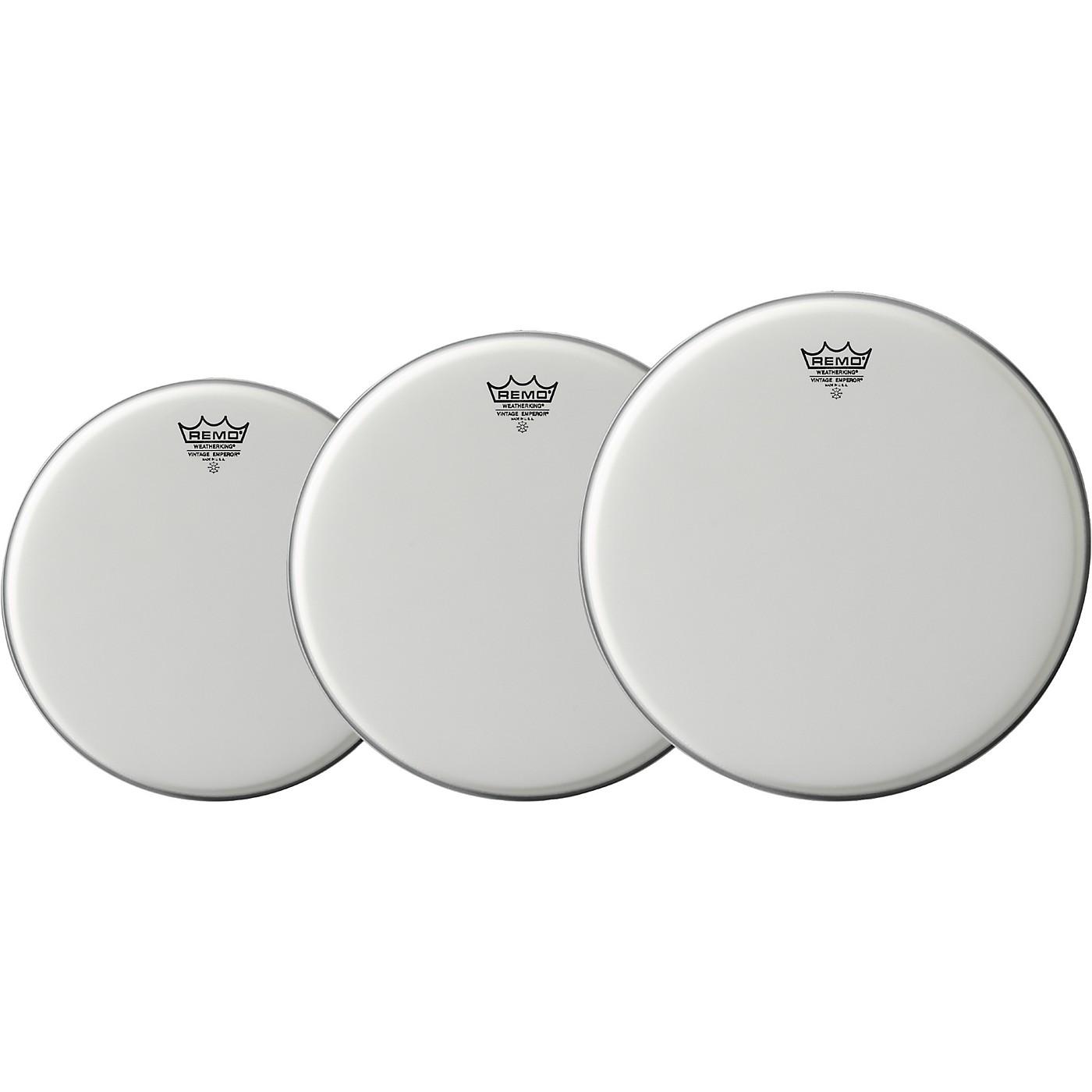 Remo Vintage Emperor Drum Head 3-Pack, 10/12/14 thumbnail