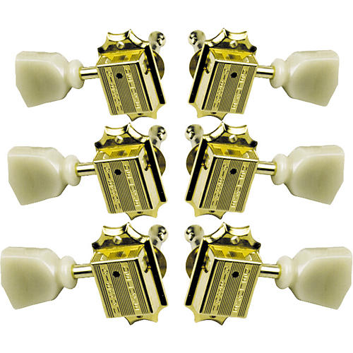 Gibson Vintage Gold Machine Heads with Pearloid Buttons-thumbnail