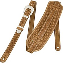 El Dorado Vintage Hand-Tooled Leather Guitar Strap