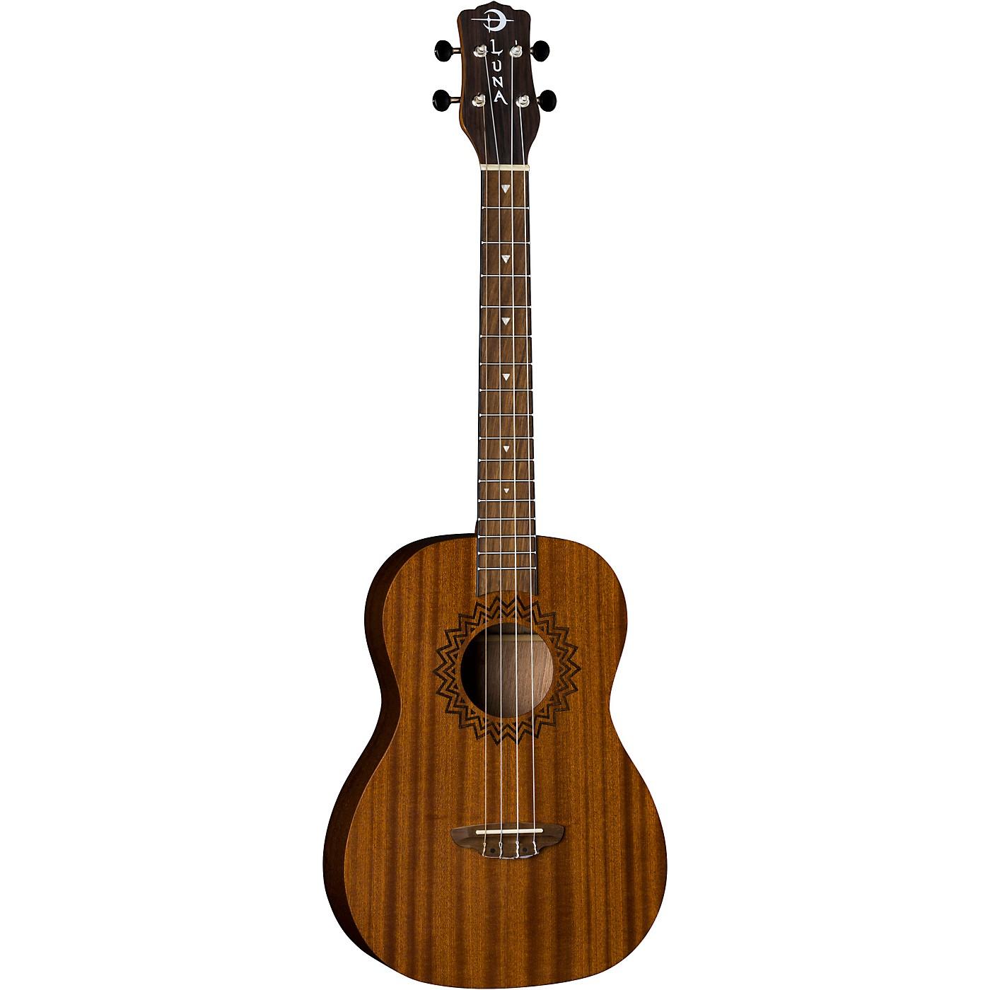 Luna Guitars Vintage Mahogany Baritone Ukulele in Red Satin thumbnail