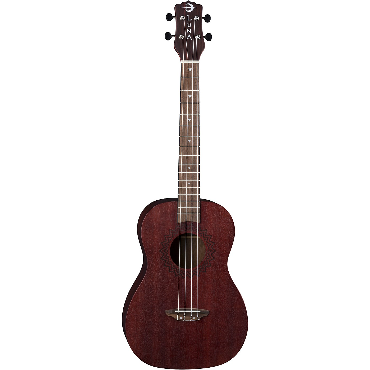 Luna Guitars Vintage Mahogany Baritone Ukulele in Red Satin thumbnail