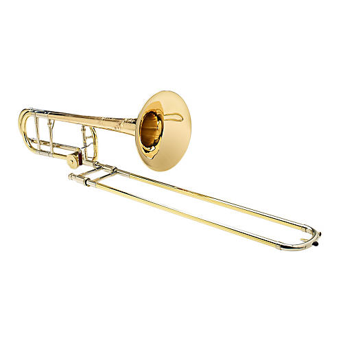 S.E. SHIRES Vintage New York Tenor Trombone in Yellow Brass with F Attachment thumbnail