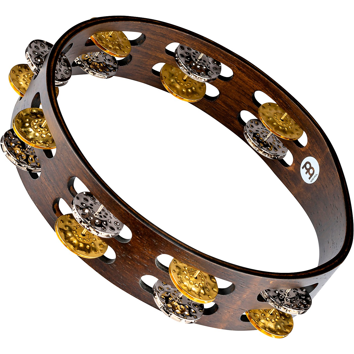 Meinl Vintage Wood Tambourine with Dual Alloy Jingles thumbnail