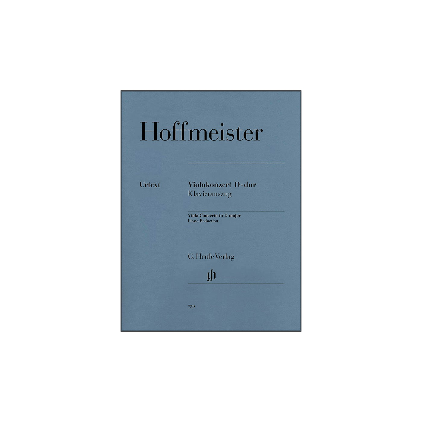 G. Henle Verlag Viola Concerto D Major By Hoffmeister thumbnail