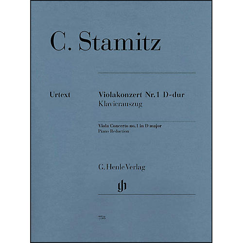 G. Henle Verlag Viola Concerto No. 1 D Major By Stamitz thumbnail