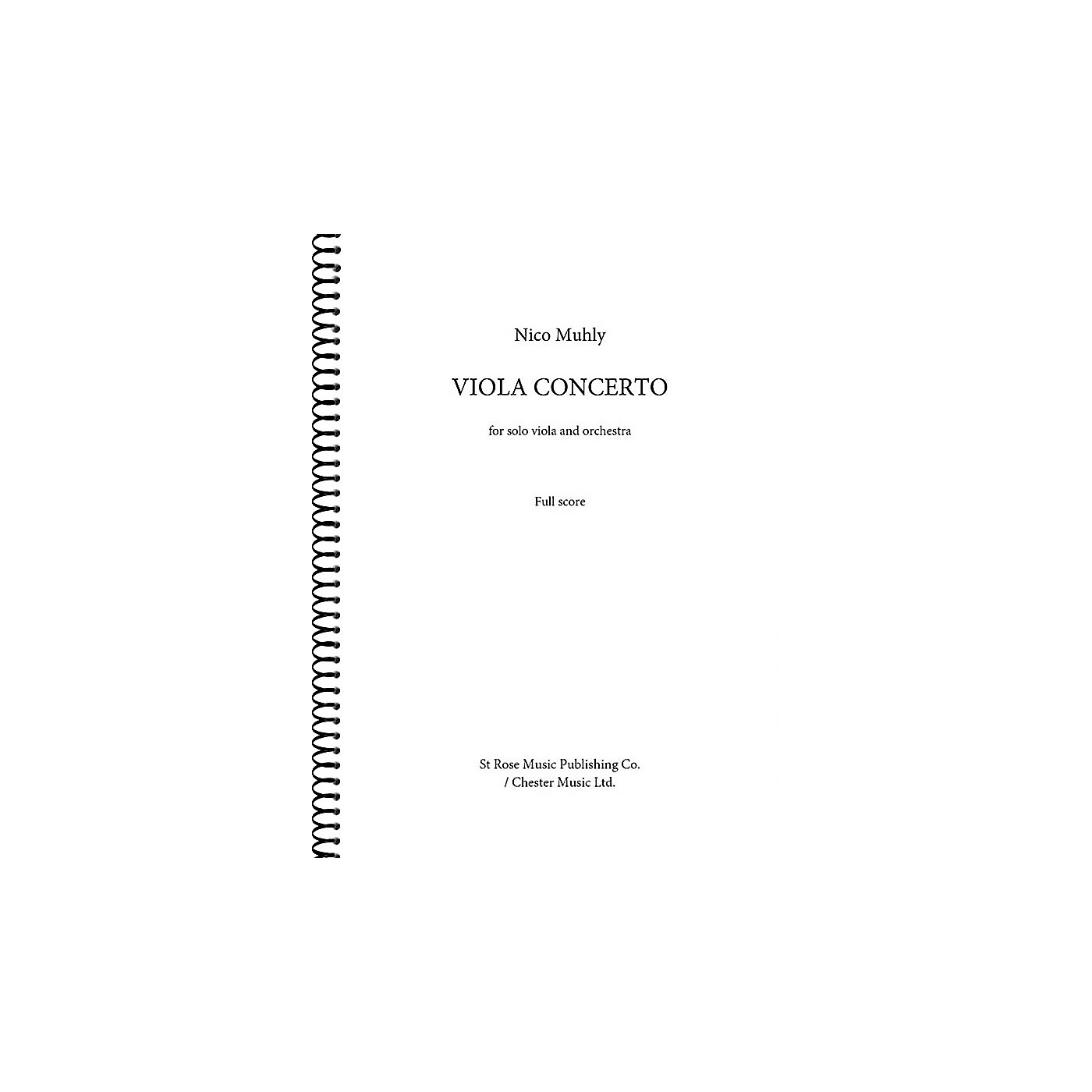 St. Rose Music Publishing Co. Viola Concerto (for Viola and Orchestra (Full Score)) Music Sales America Series Softcover by Nico Muhly thumbnail