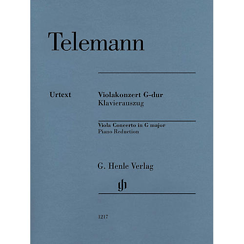 G. Henle Verlag Viola Concerto in G Major (Viola with Piano Reduction) Henle Music Folios Series Softcover thumbnail