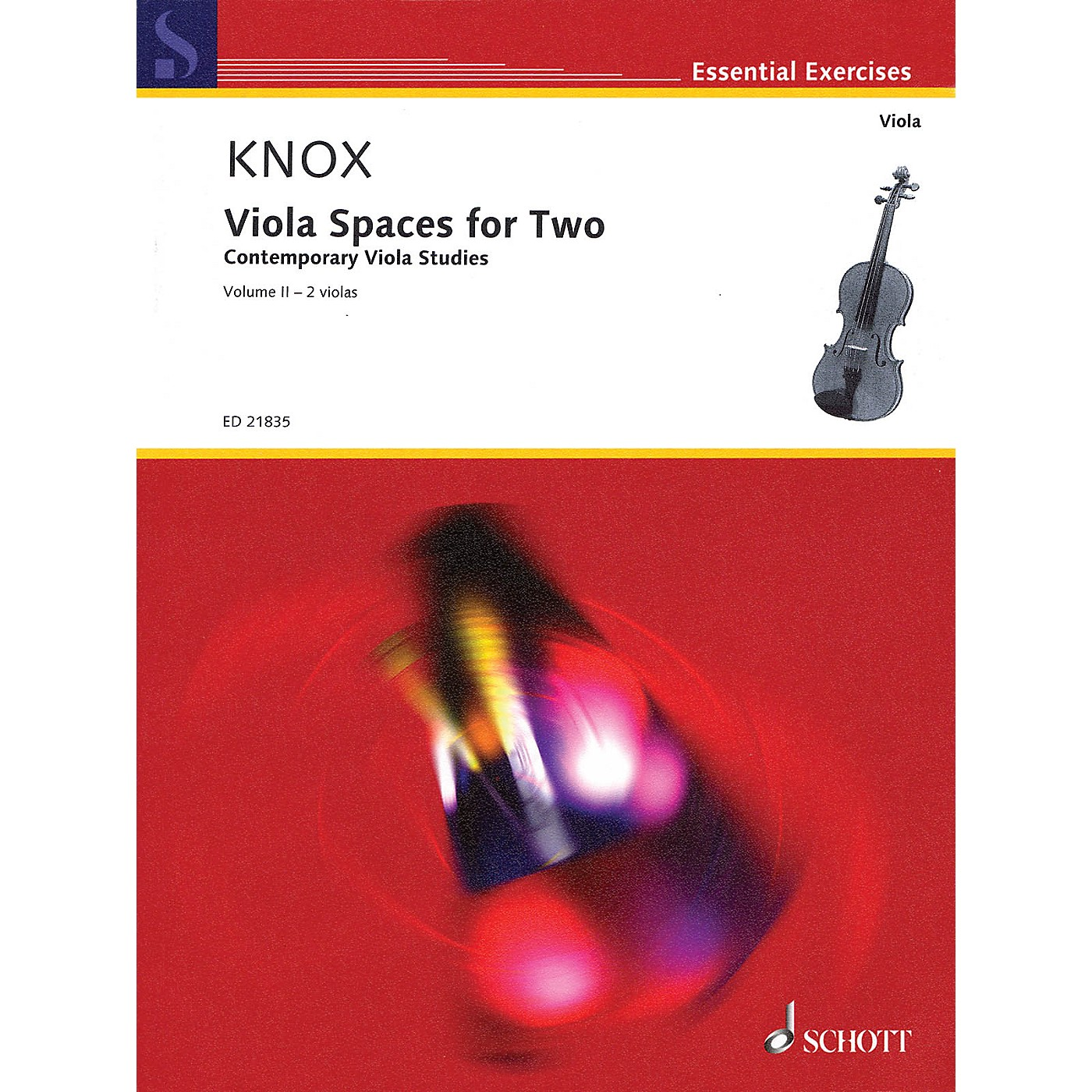 Schott Viola Spaces for Two (Performance Score) String Series Softcover Composed by Garth Knox thumbnail