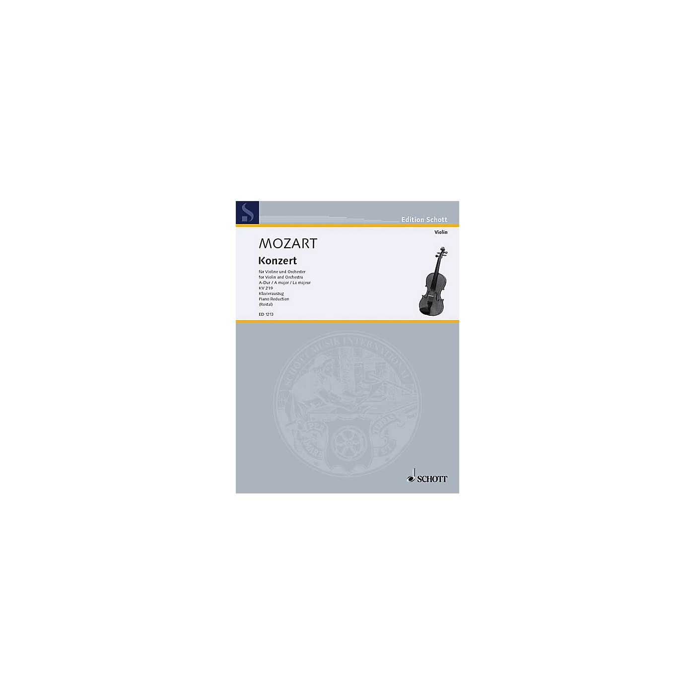 Schott Violin Concerto 5 A Major K. 219 Schott Series thumbnail