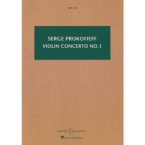 Boosey and Hawkes Violin Concerto No. 1 in D, Op. 19 Boosey & Hawkes Scores/Books Series Composed by Sergei Prokofieff thumbnail