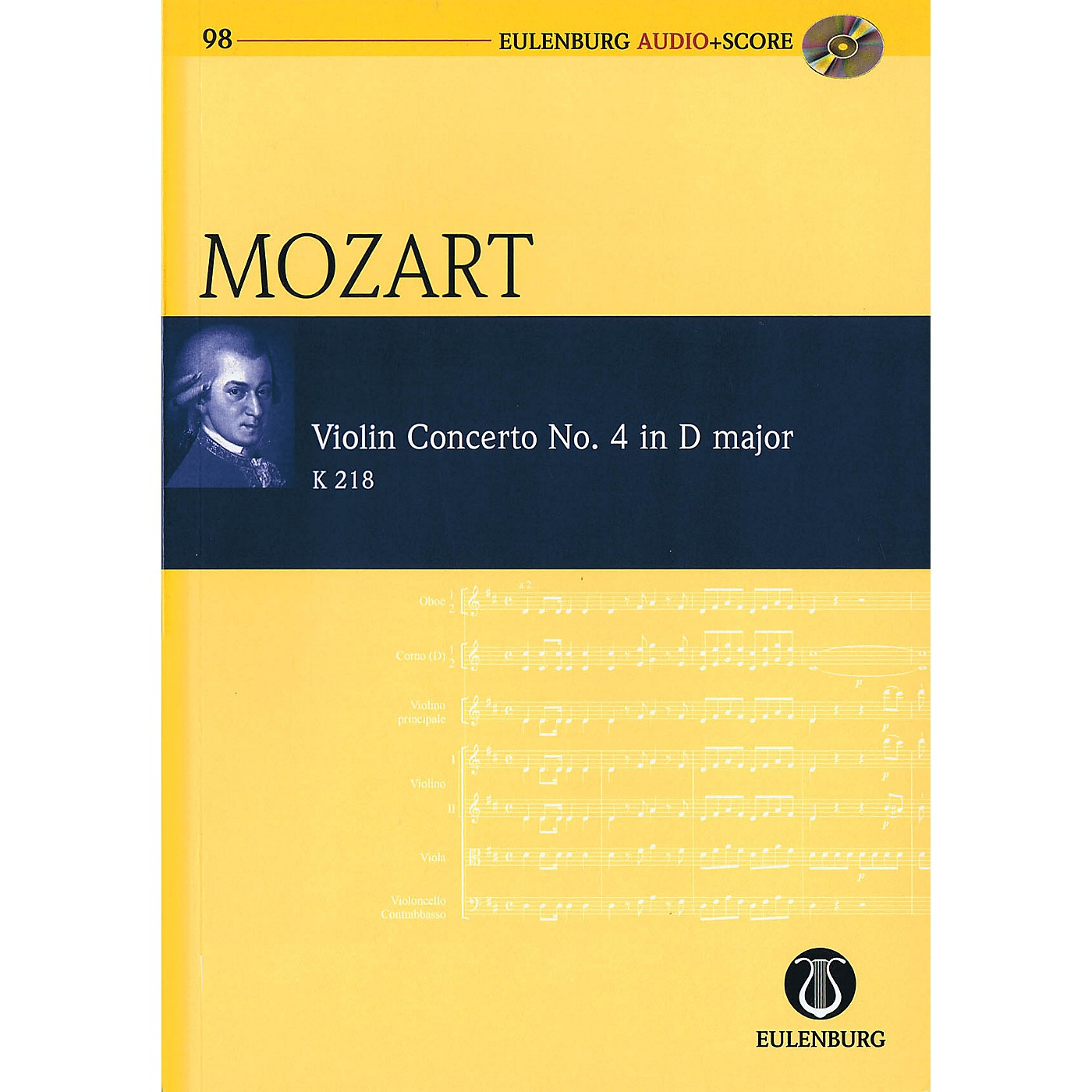 Eulenburg Violin Concerto No. 4 in D Major, KV 218 Study Score Series Softcover with CD by Wolfgang Amadeus Mozart thumbnail