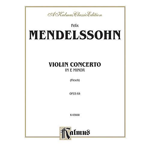 Alfred Violin Concerto Op. 64 for Violin By Felix Mendelssohn / arr. Carl Flesch Book thumbnail