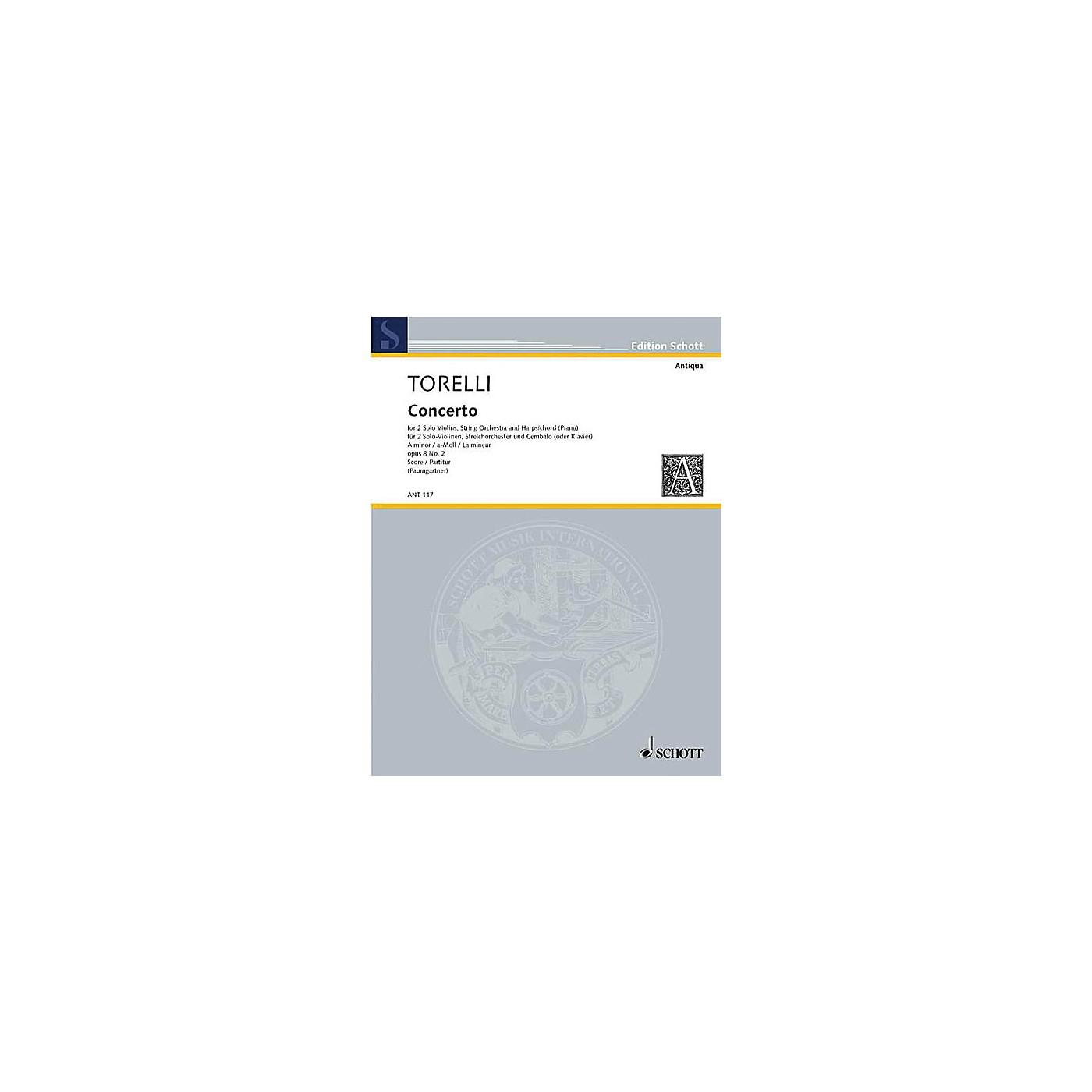 Schott Violin Concerto Op. 8, No. 2 (Score) Schott Series Composed by Giuseppe Torelli thumbnail