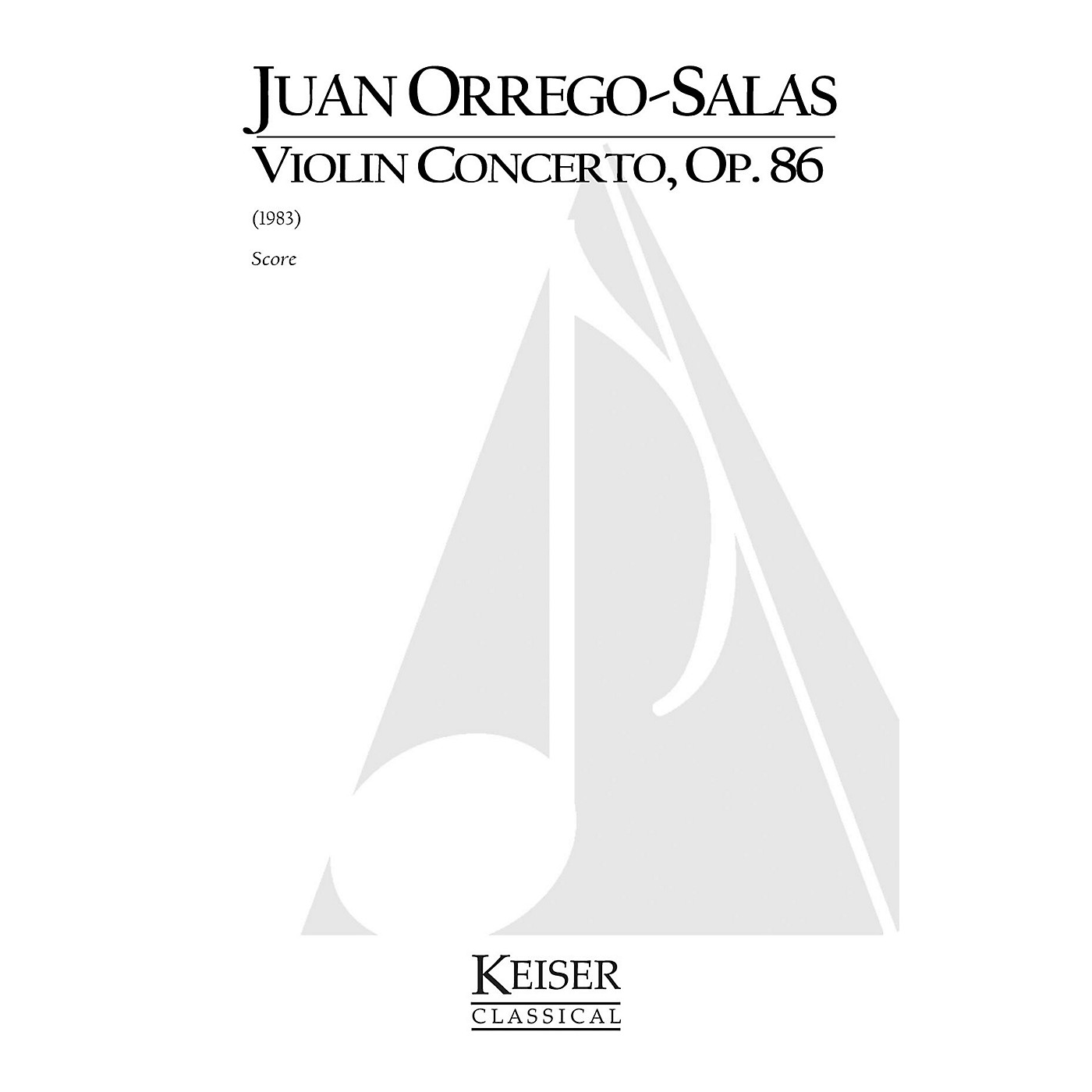 Lauren Keiser Music Publishing Violin Concerto, Op. 86 LKM Music Series Composed by Juan Orrego-Salas thumbnail