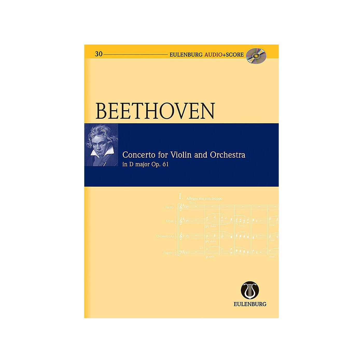 Eulenburg Violin Concerto in D Major Op. 61 Eulenberg Audio plus Score Series Composed by Ludwig van Beethoven thumbnail