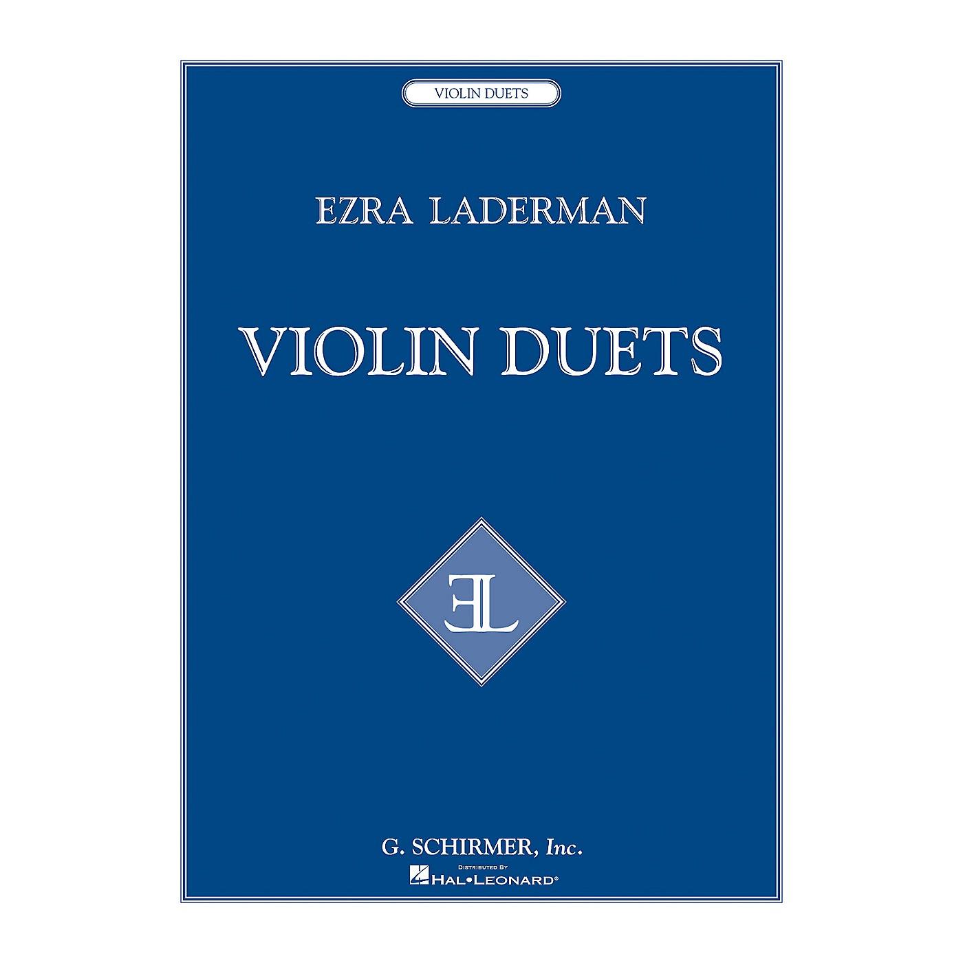 G. Schirmer Violin Duets String Series Composed by Ezra Laderman thumbnail
