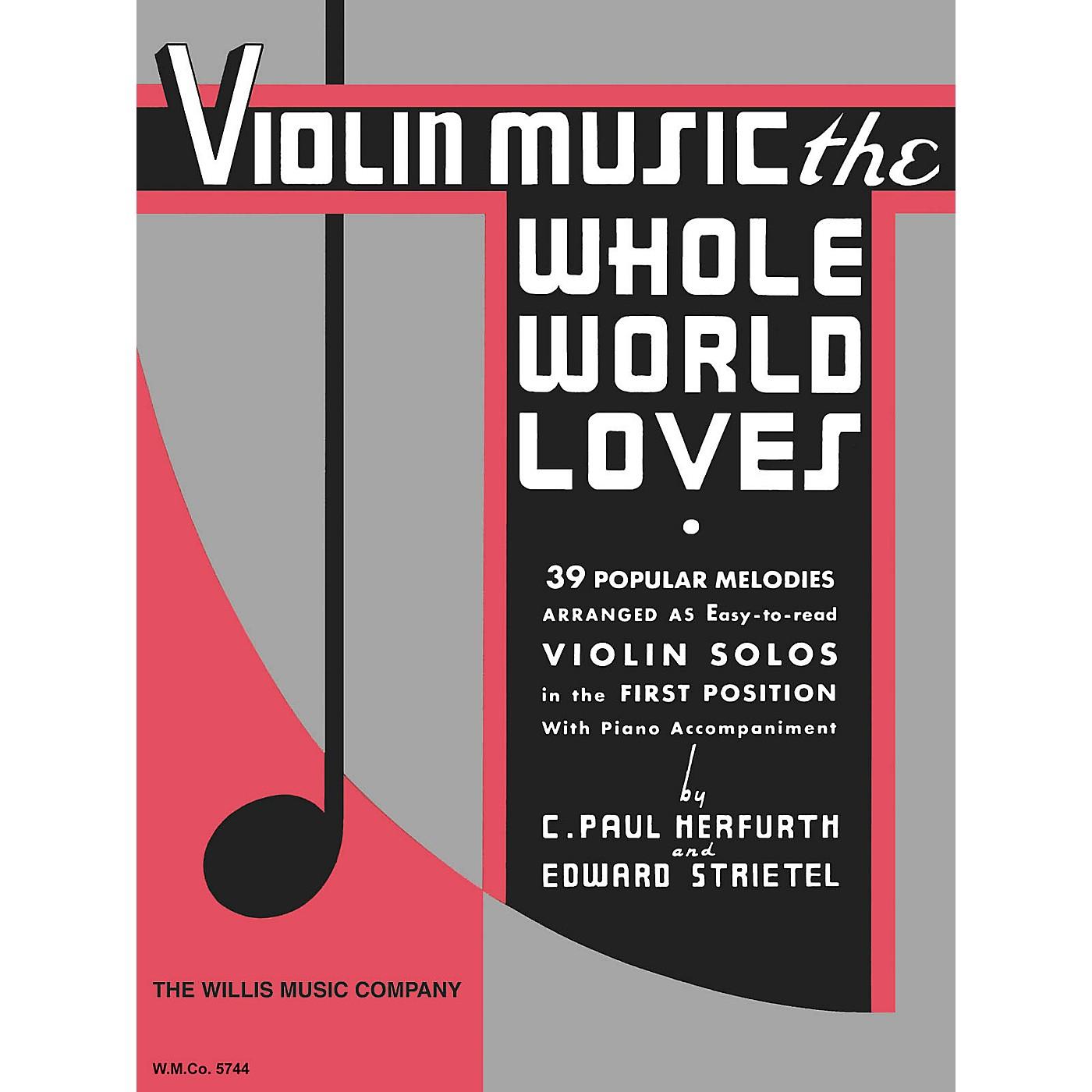 Willis Music Violin Music the Whole World Willis Series thumbnail