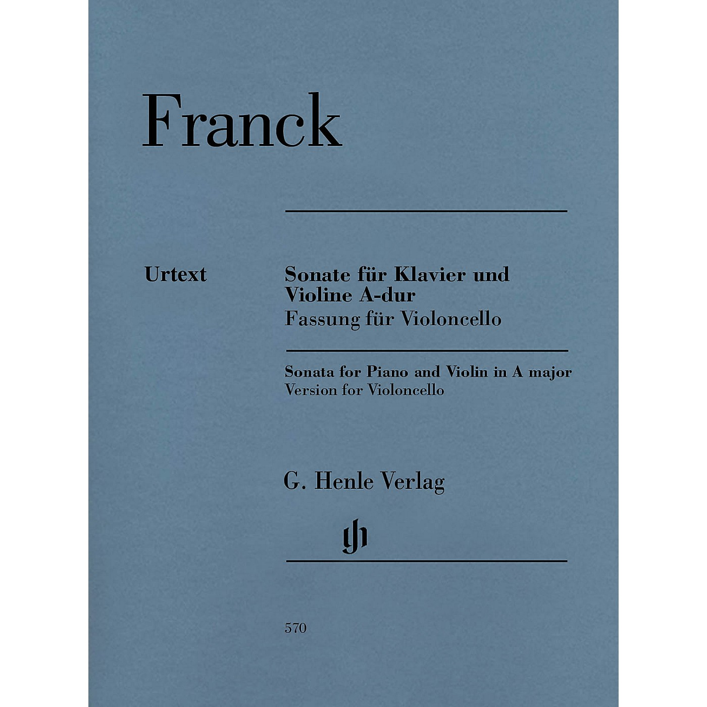 G. Henle Verlag Violin Sonata A Major Henle Music Folios Series Softcover Composed by Cesar Franck Edited by Peter Jost thumbnail