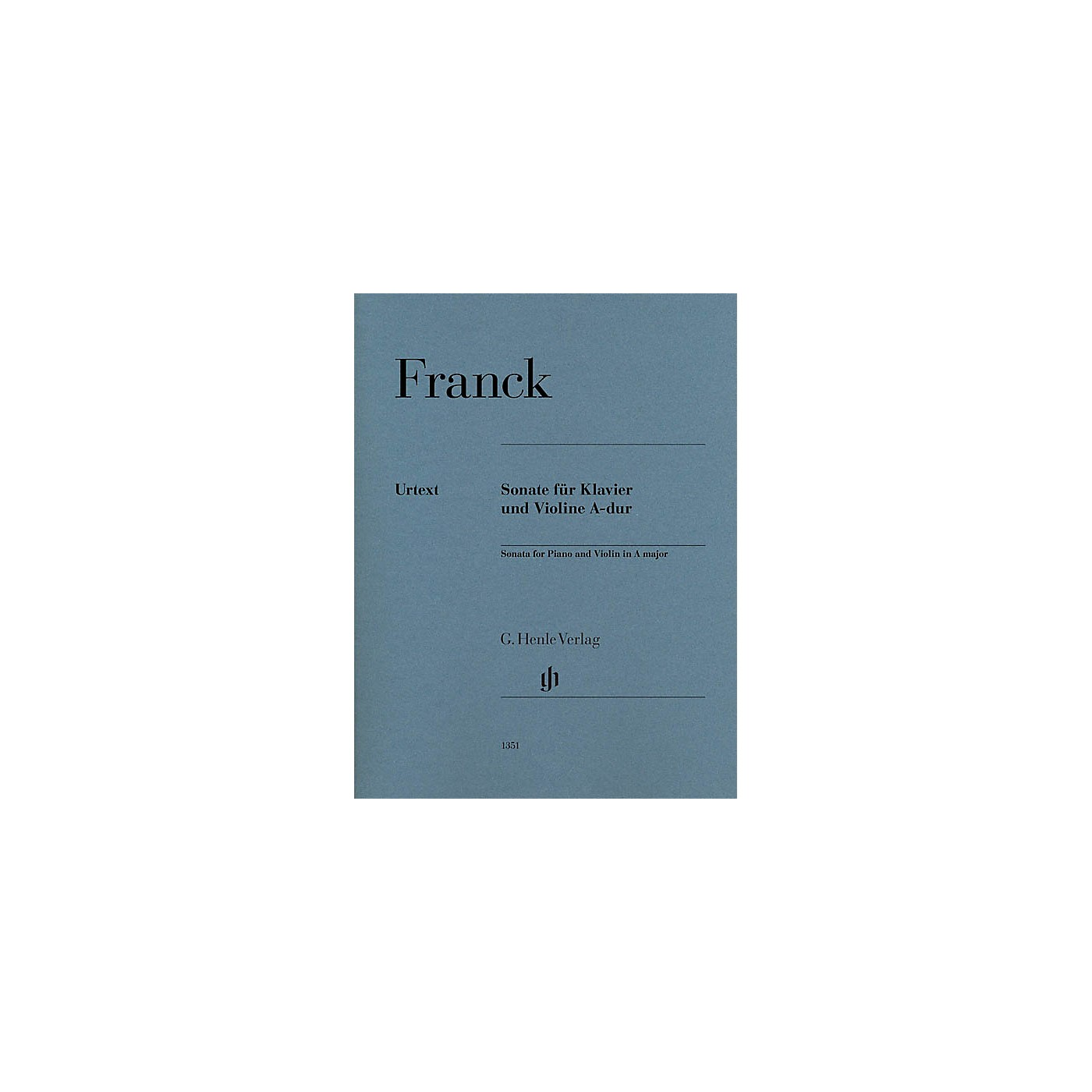 G. Henle Verlag Violin Sonata in A Major (Violin and Piano) Henle Music Folios Series by César Franck thumbnail