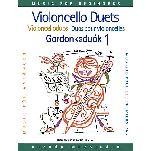 Editio Musica Budapest Violoncello Duos for Beginners - Volume 1 EMB Series Composed by Arpad Pejtsik thumbnail