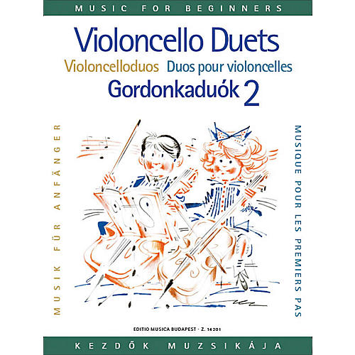 Editio Musica Budapest Violoncello Duos for Beginners - Volume 2 EMB Series Composed by Various thumbnail