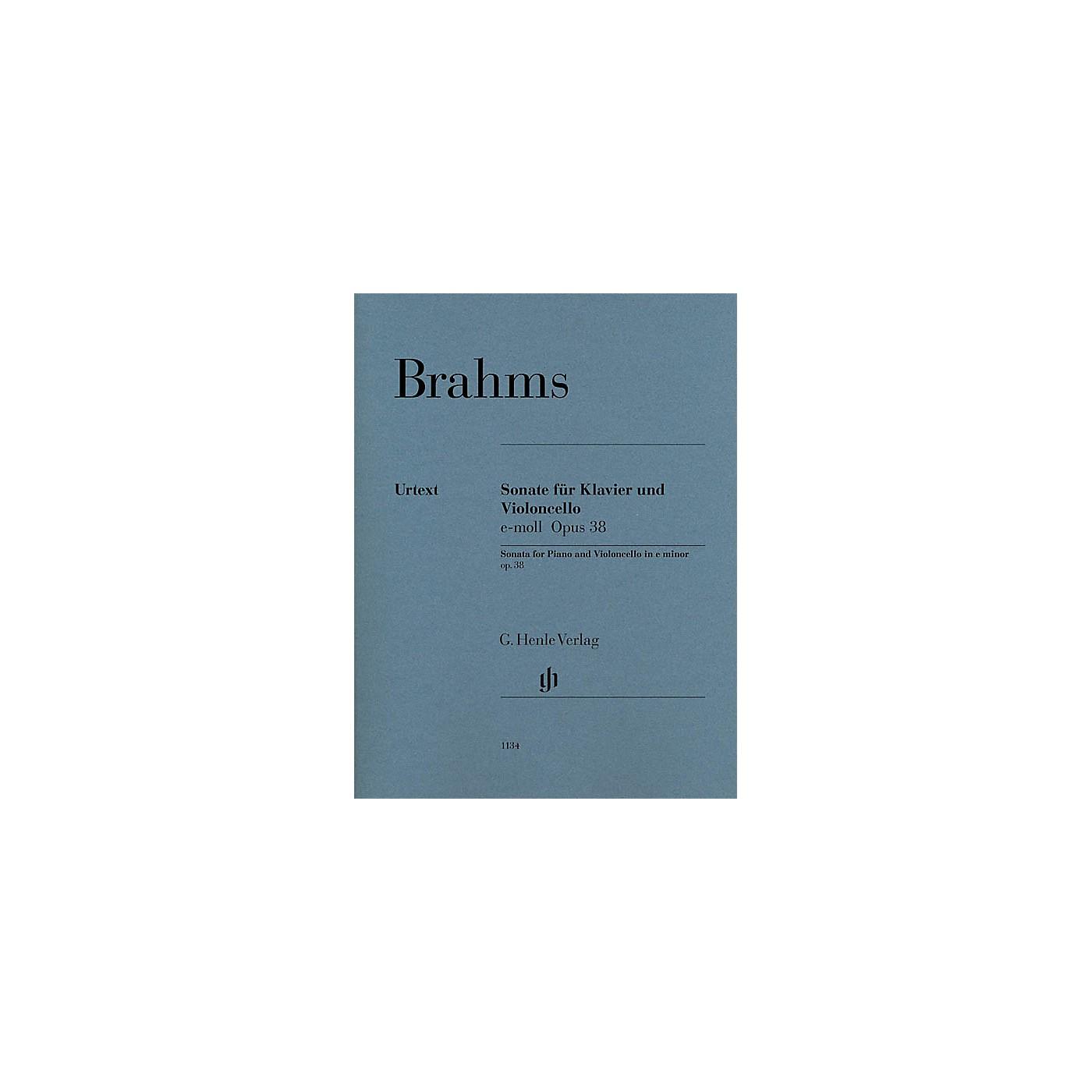 G. Henle Verlag Violoncello Sonata in E minor, Op. 38 (Cello and Piano) Henle Music Folios Series thumbnail