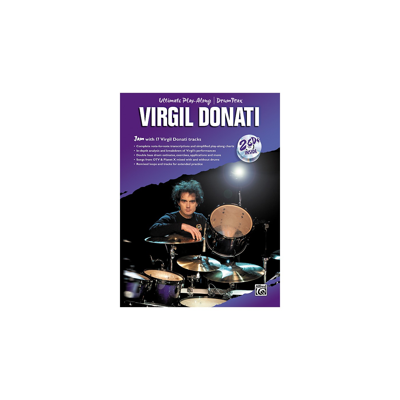 Alfred Virgil Donati Ultimate Drum Play-Along Book with 2 CDs thumbnail