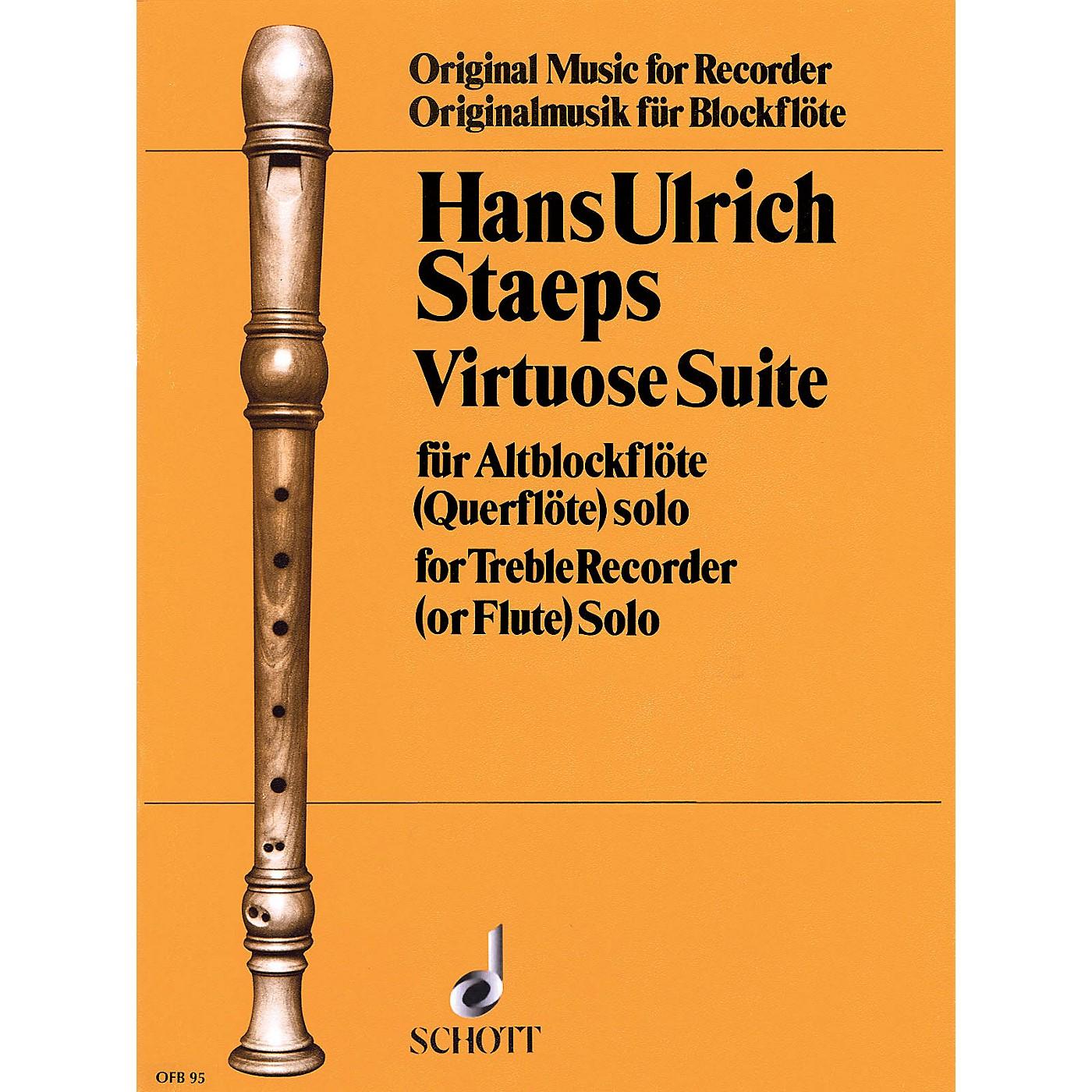 Schott Virtuoso Suite (for Treble Recorder) Schott Series thumbnail