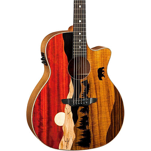 Luna Guitars Vista Bear Acoustic-Electric Guitar thumbnail