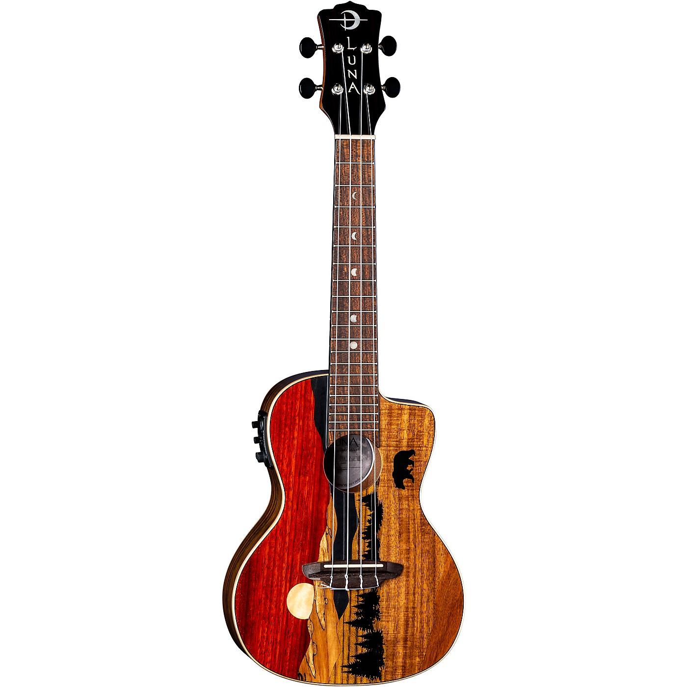 Luna Guitars Vista Bear Tropical Wood Concert Acoustic-Electric Ukulele thumbnail